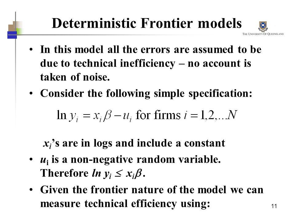 Deterministic Frontier models