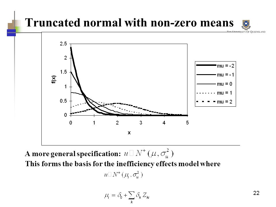 Truncated normal with non-zero means