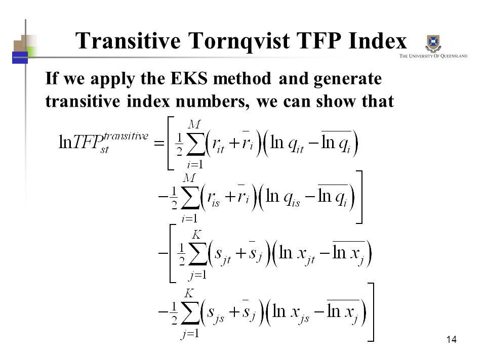 Transitive Tornqvist TFP Index