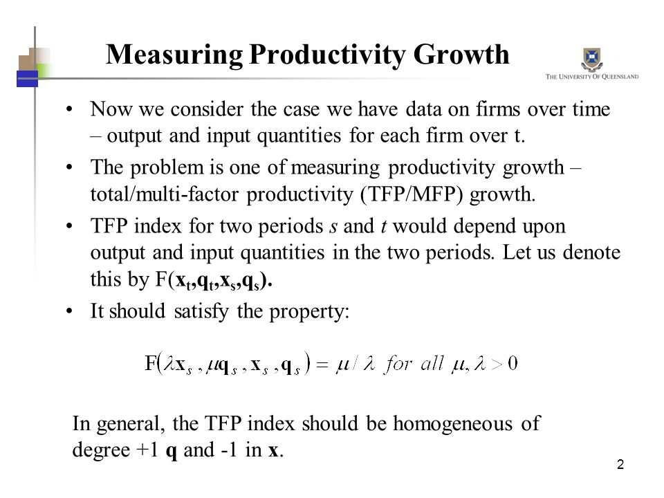 Measuring Productivity Growth