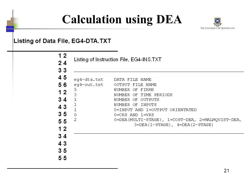 Listing of Data File, EG4-DTA.TXT _________________________________
