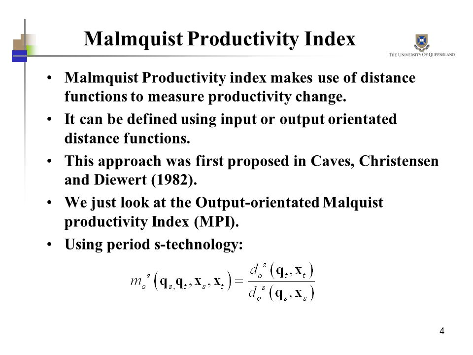 Malmquist Productivity Index