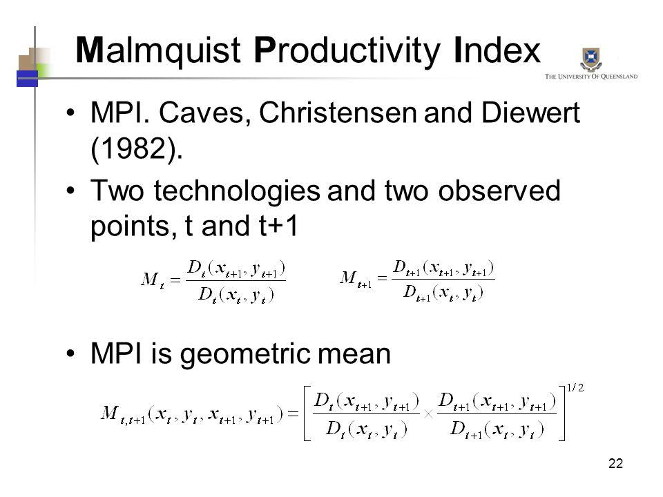 Malmquist Productivity Index