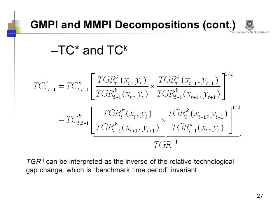 GMPI and MMPI Decompositions (cont.)