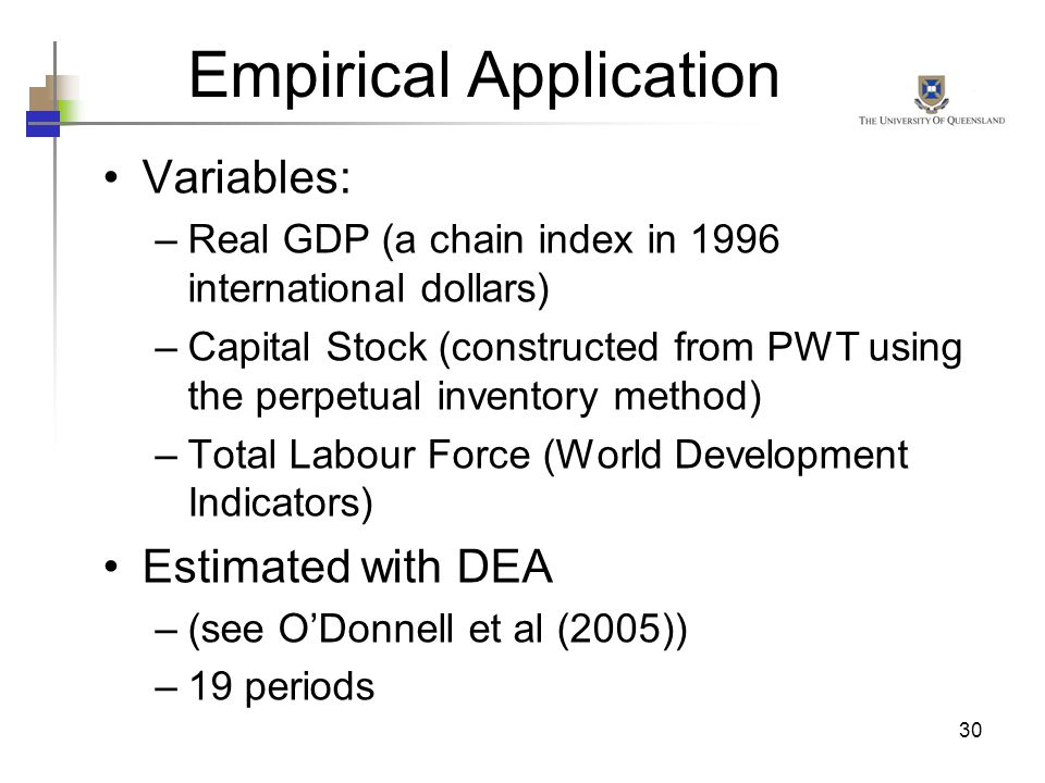 Empirical Application
