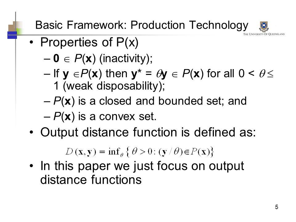 Basic Framework: Production Technology