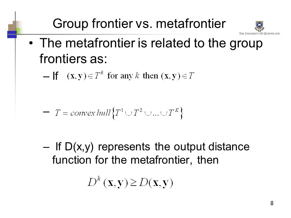 Group frontier vs. metafrontier