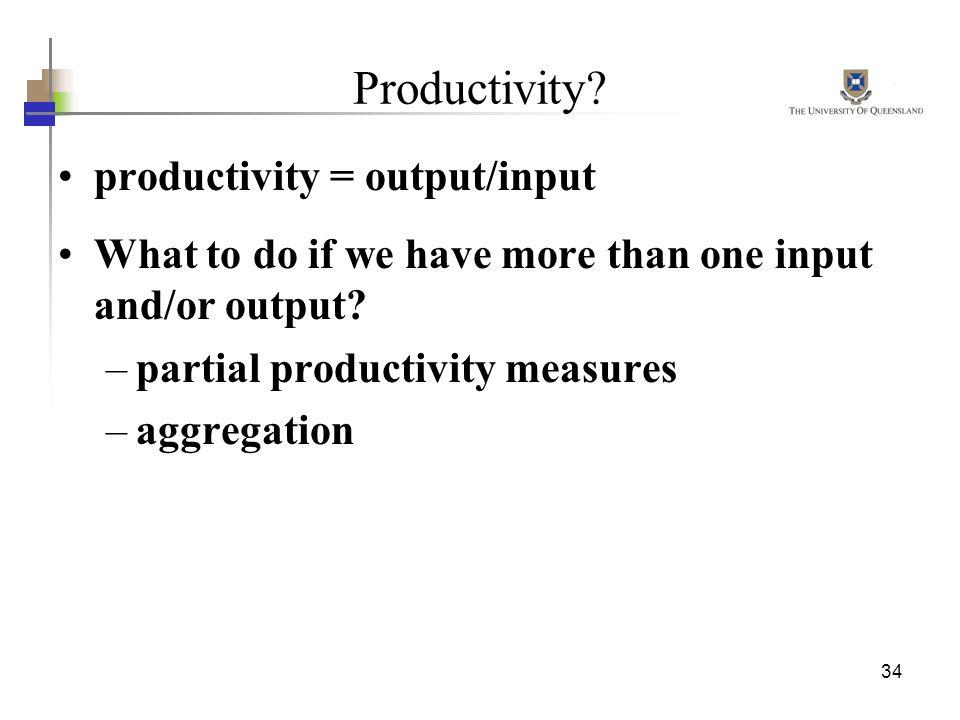 Productivity productivity = output/input