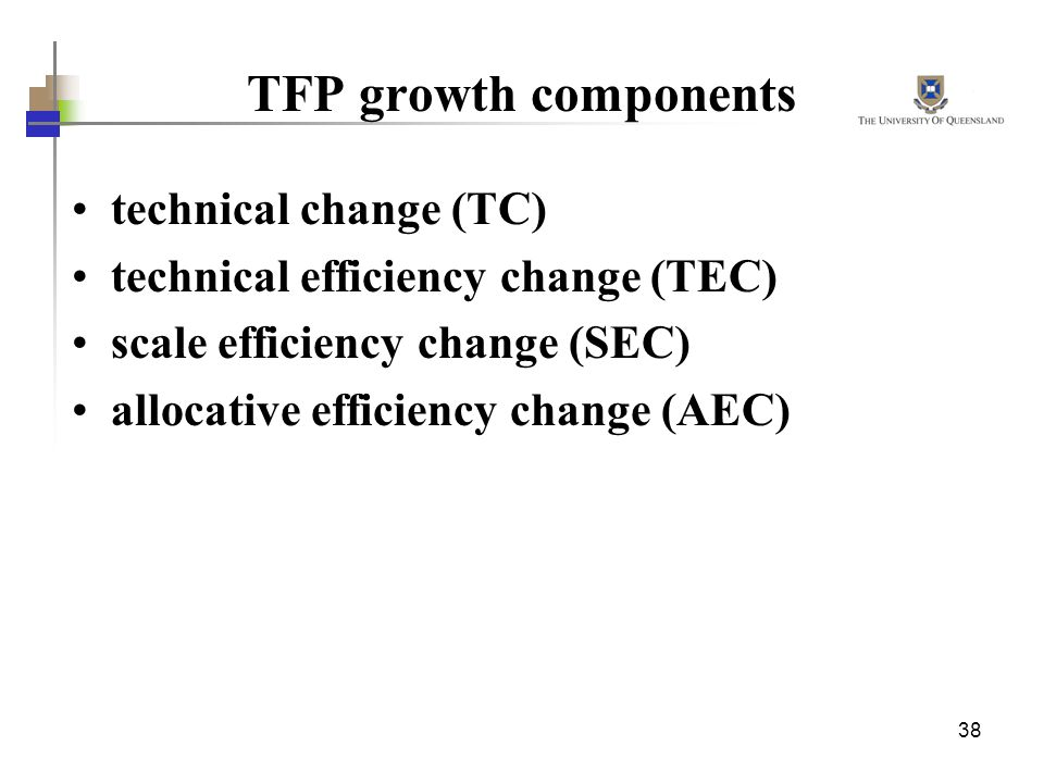 TFP growth components technical change (TC)