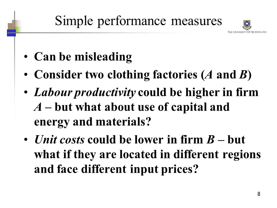 Simple performance measures