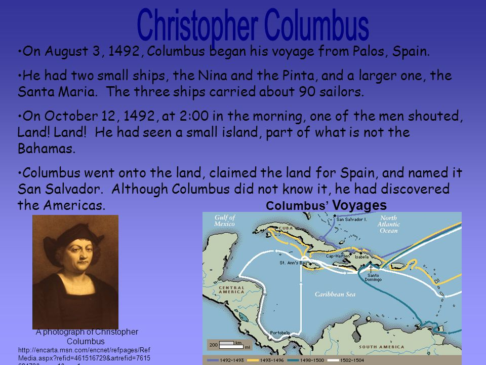 A photograph of Christopher Columbus
