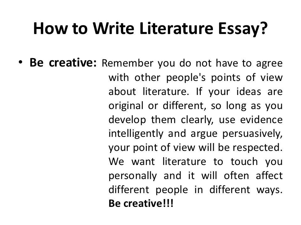 How to write literature essay