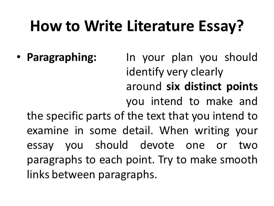 goal literary essay Types of papers: literary analysis if you've been asked to analyze a piece of literature, try following these steps: identify the author's purpose ask yourself.