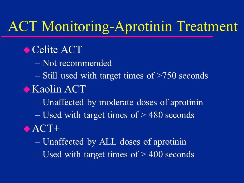 ACT Monitoring-Aprotinin Treatment