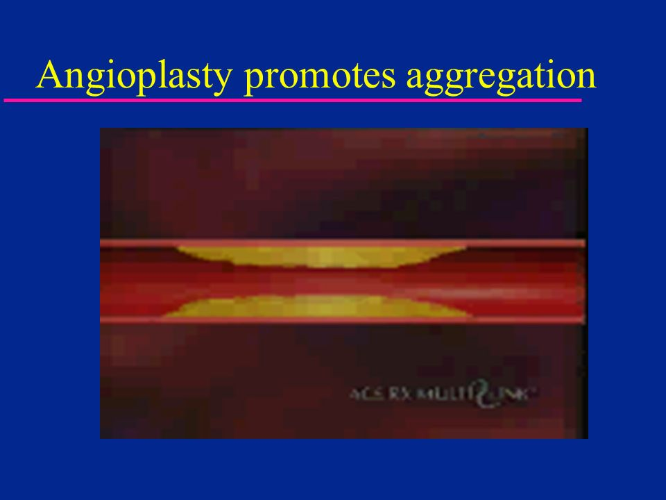 Angioplasty promotes aggregation