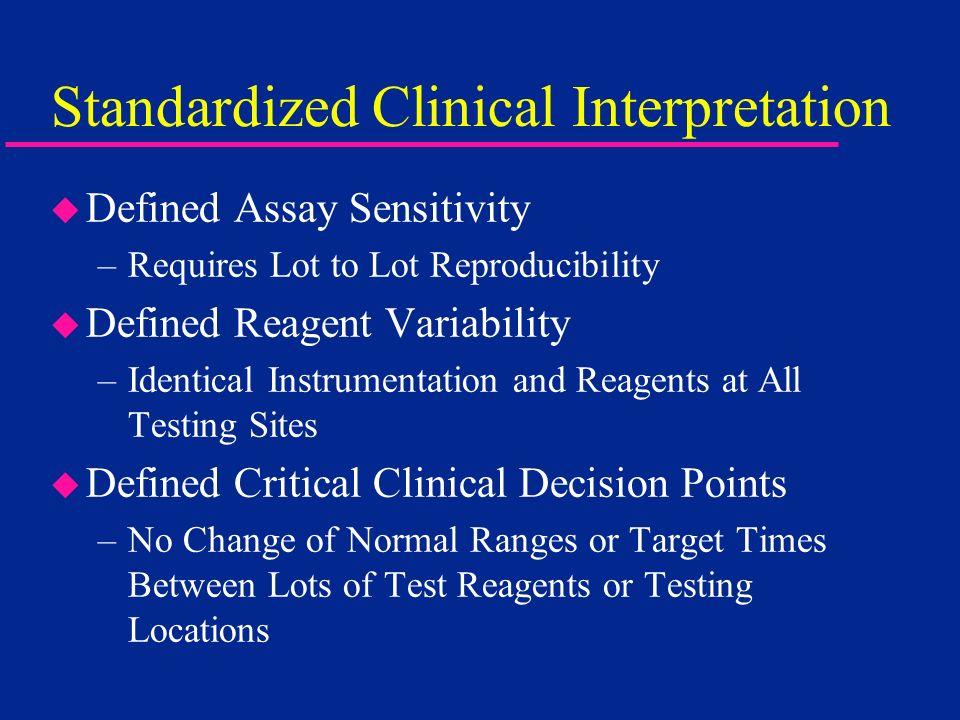 Standardized Clinical Interpretation