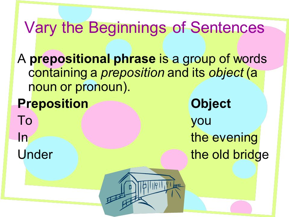 Vary the Beginnings of Sentences