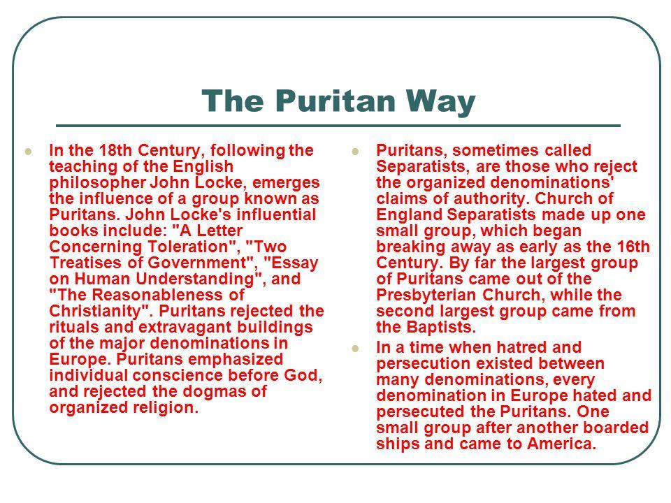 The Puritan Way