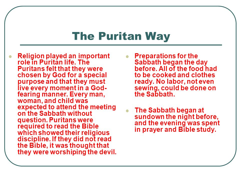 The Puritan Way