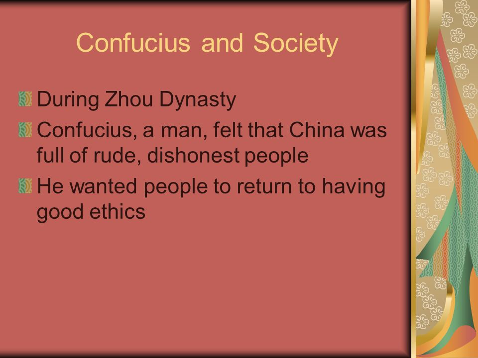 Confucius and Society During Zhou Dynasty