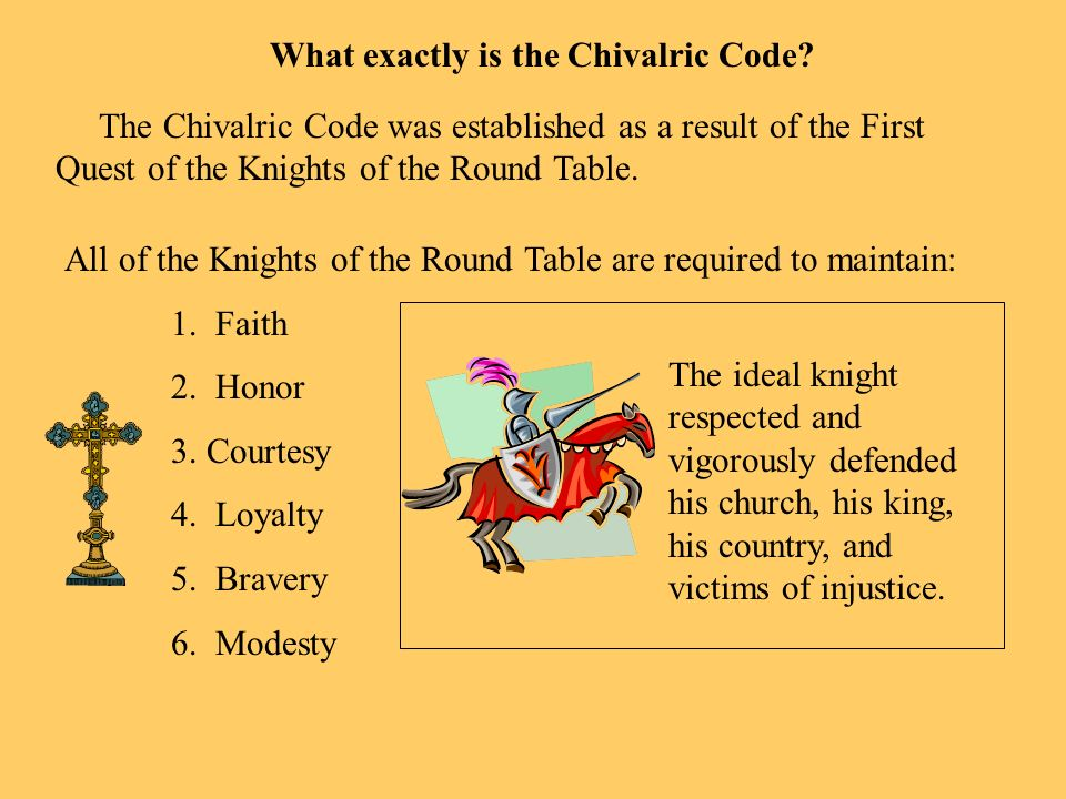 What exactly is the Chivalric Code
