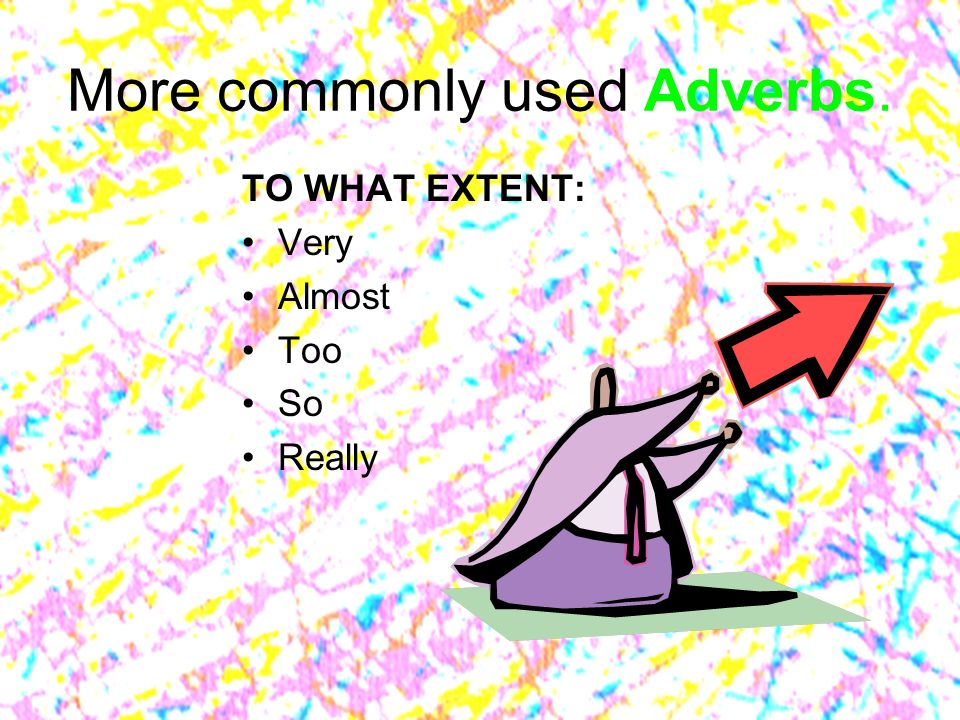 More commonly used Adverbs.