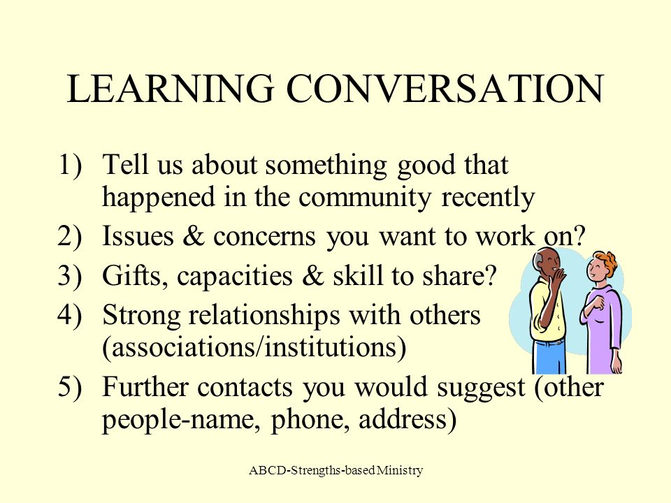 LEARNING CONVERSATION