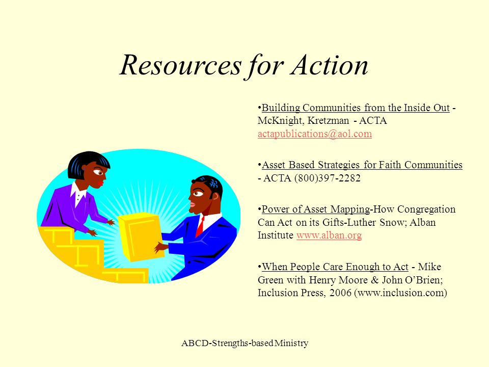 ABCD-Strengths-based Ministry