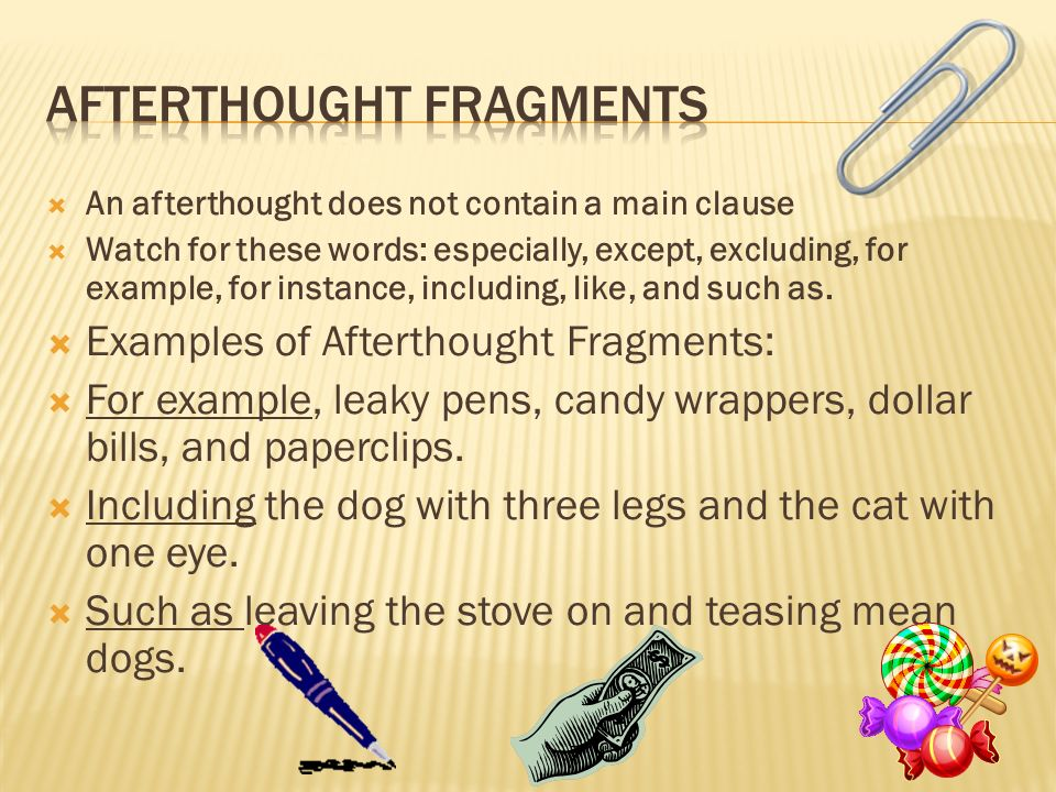 Afterthought Fragments