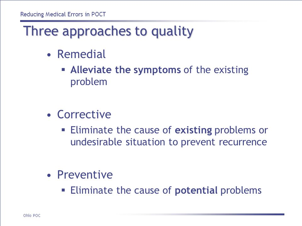 Three approaches to quality