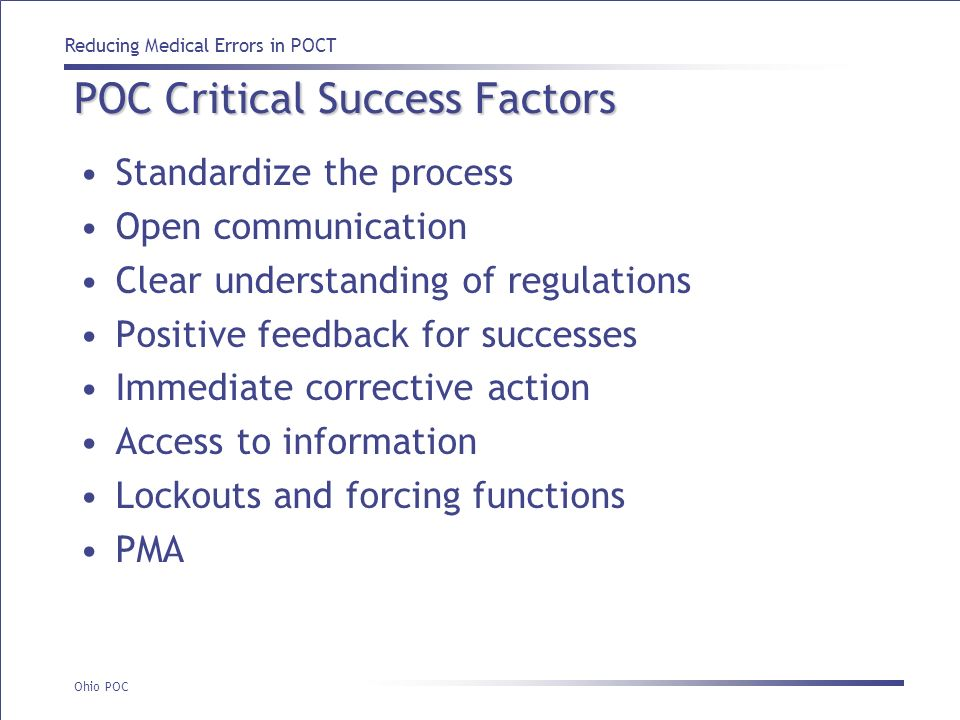 POC Critical Success Factors
