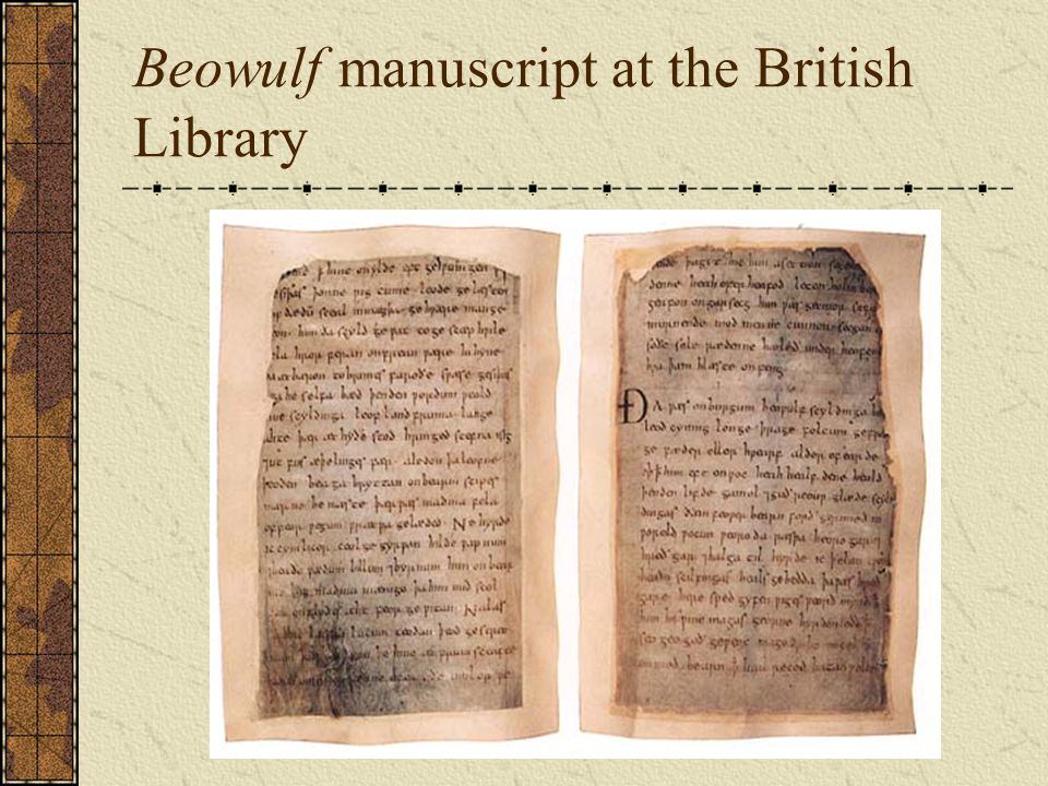 Beowulf manuscript at the British Library
