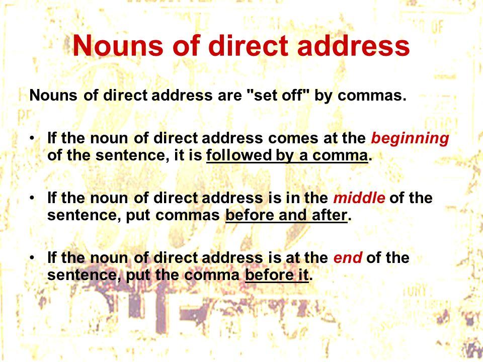 Nouns of direct address