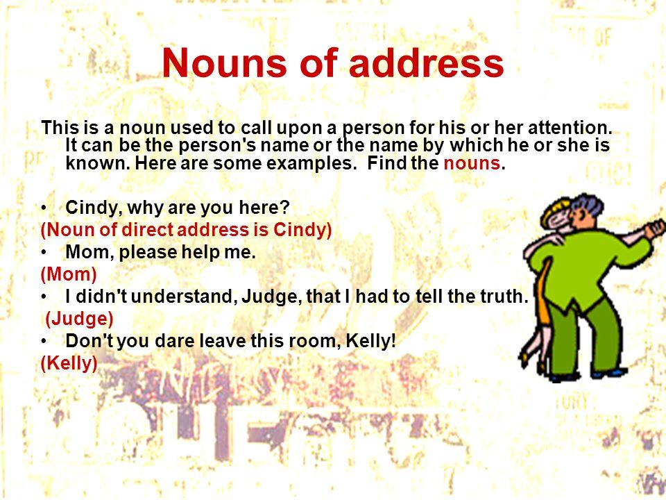 Nouns of address