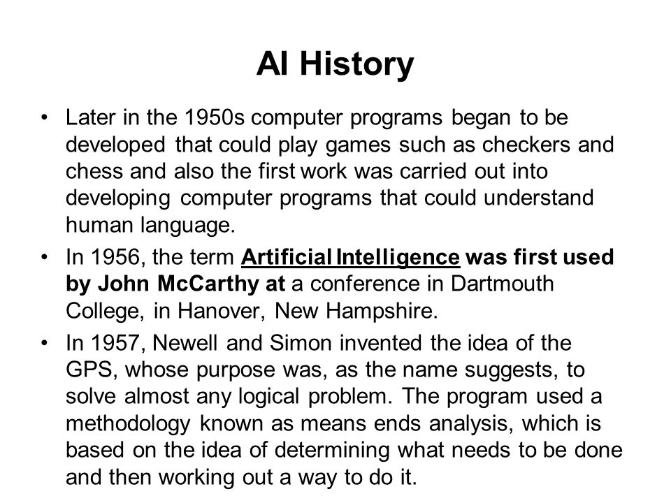an analysis on artificial intelligence and the turing test Turing test, in artificial intelligence, a test proposed (1950) by the english  the  turing test involves three participants: a computer, a human interrogator, and a.