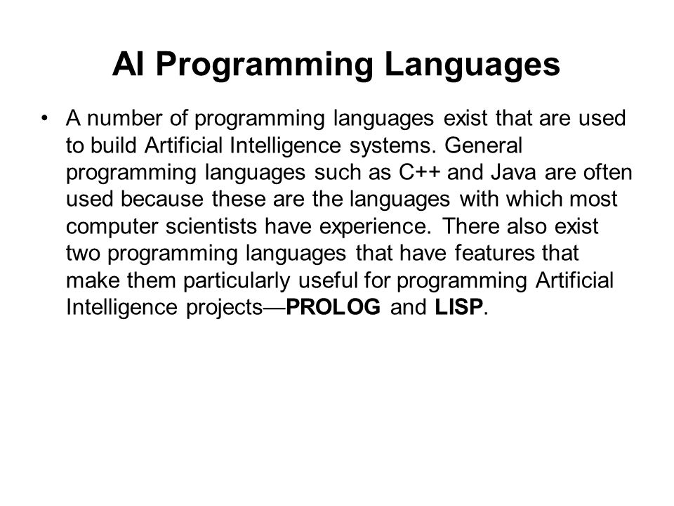 5 Best Programming Languages for Artificial Intelligence ...