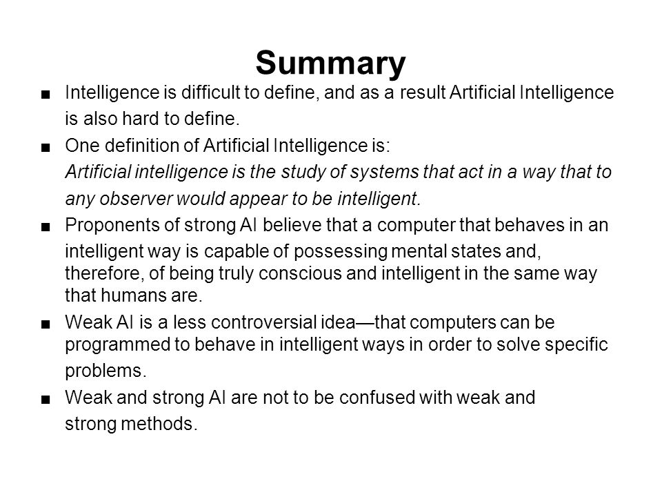 Artificial intelligence searle vs dennet