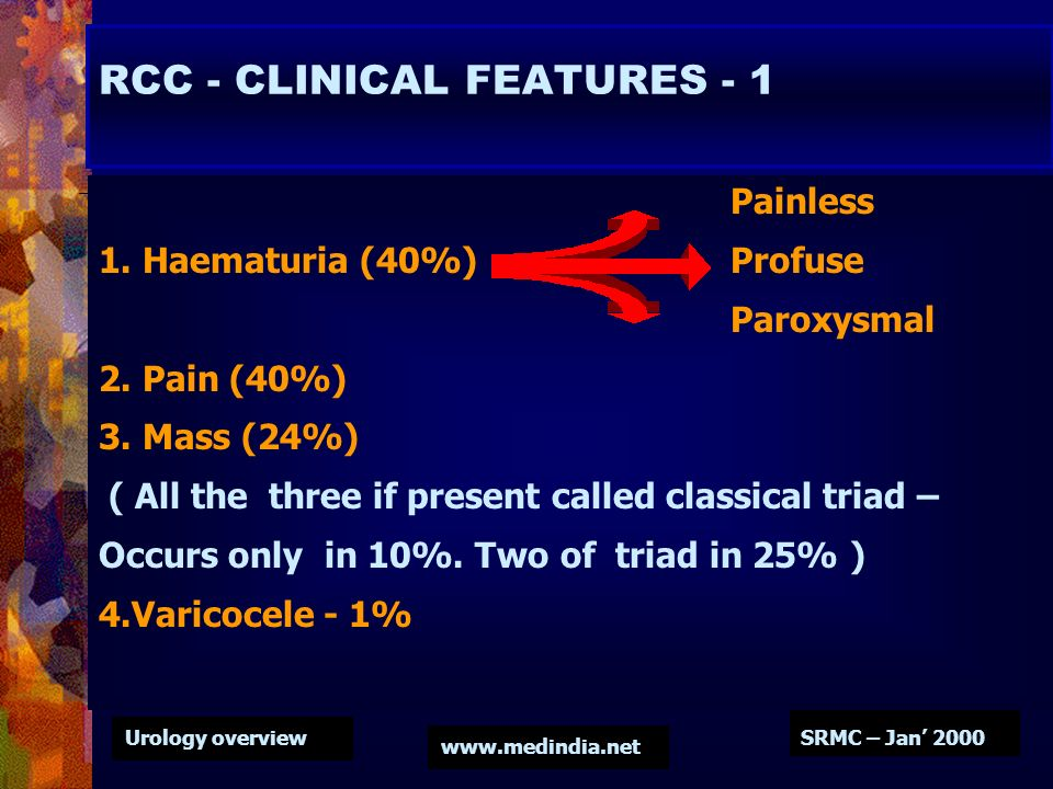 RCC - CLINICAL FEATURES - 1