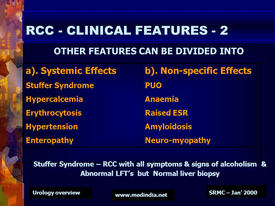 RCC - CLINICAL FEATURES - 2