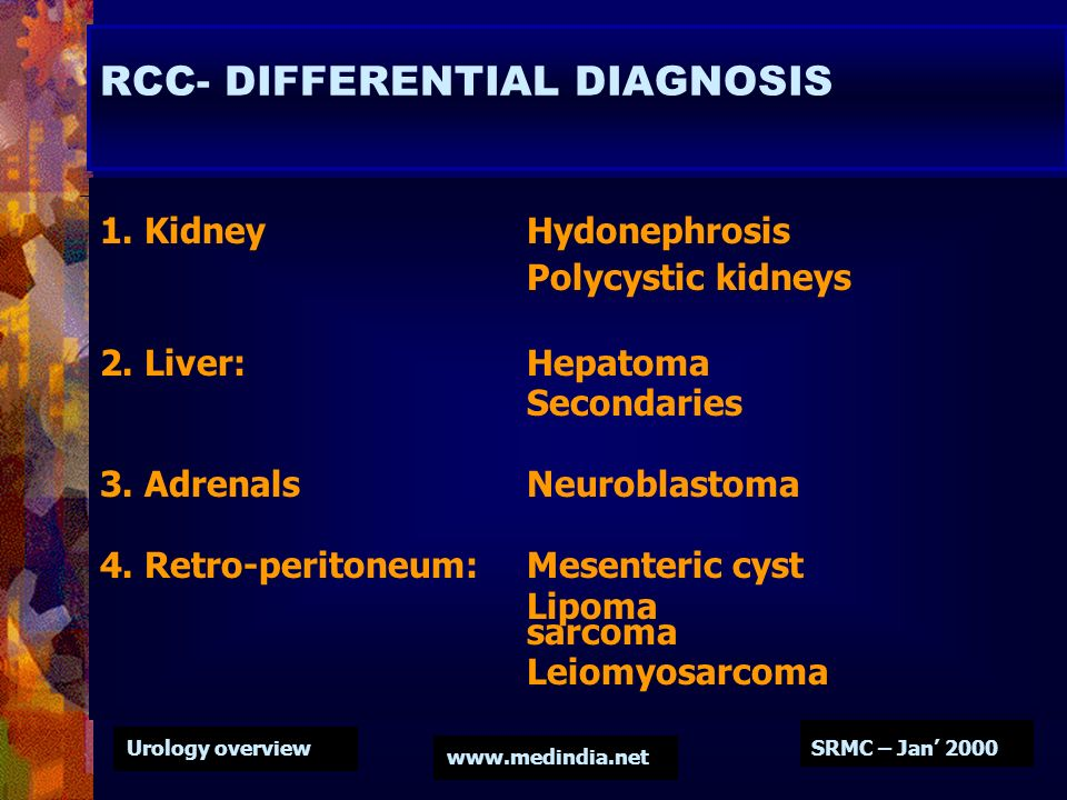 RCC- DIFFERENTIAL DIAGNOSIS