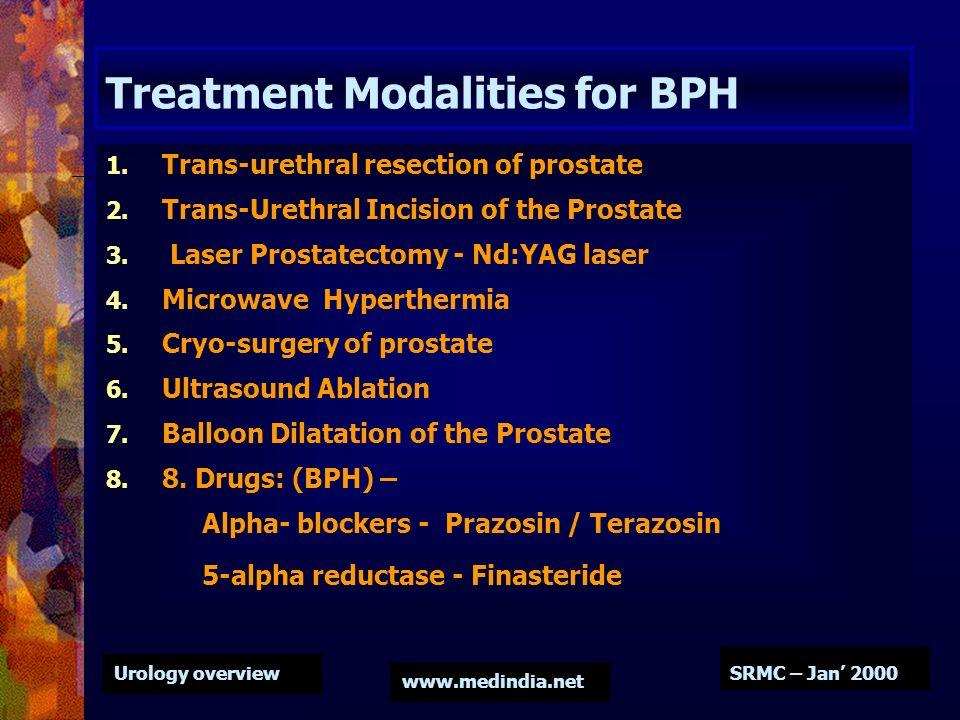 Treatment Modalities for BPH