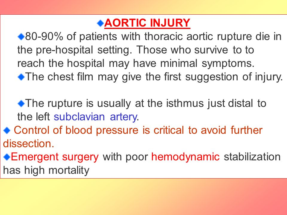 AORTIC INJURY