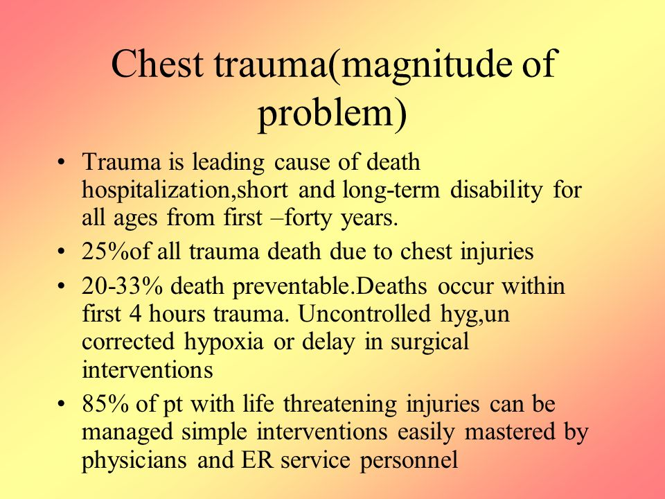 Chest trauma(magnitude of problem)