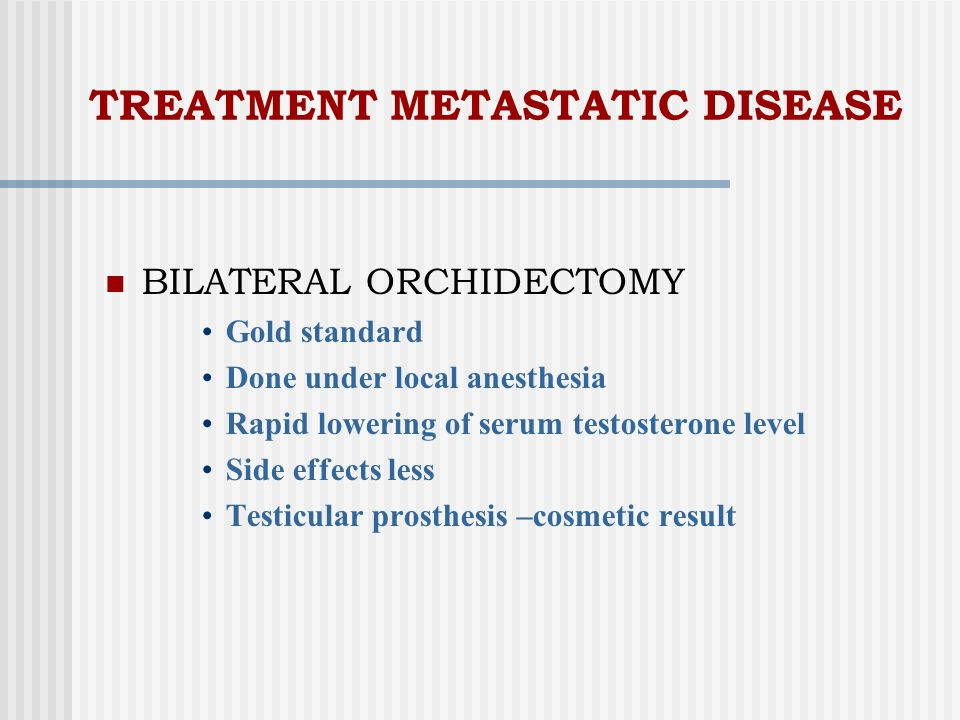 TREATMENT METASTATIC DISEASE