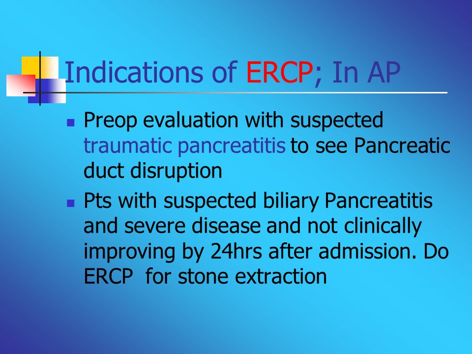 Indications of ERCP; In AP