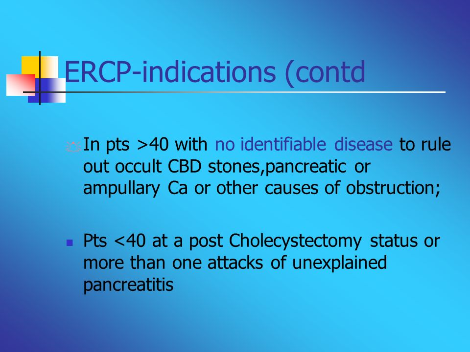 ERCP-indications (contd