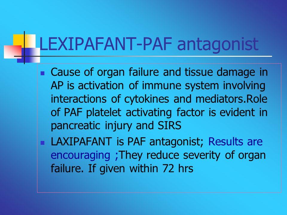 LEXIPAFANT-PAF antagonist