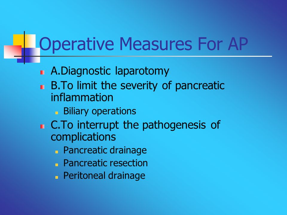 Operative Measures For AP