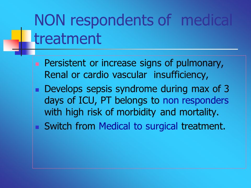 NON respondents of medical treatment