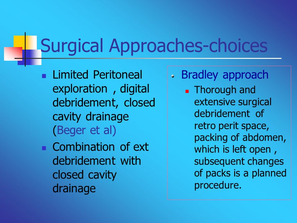 Surgical Approaches-choices